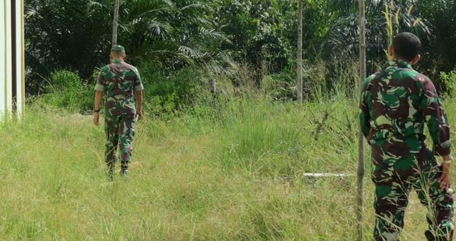 Didampingi Danramil, Kasdim 0415/Batanghari Tinjau Kesiapan Lokasi Pembukaan TMMD.
