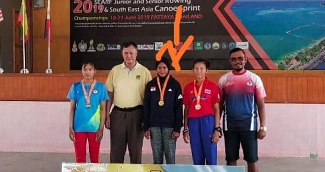 Dua Atlet Muda Jambi Raih Juara Dayung di Asean Championship.