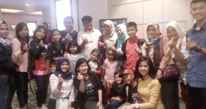 Wakil Walikota Jambi turut menyaksian putaran perdana film Say I Love You di WTC XXI Batanghari Jambi.