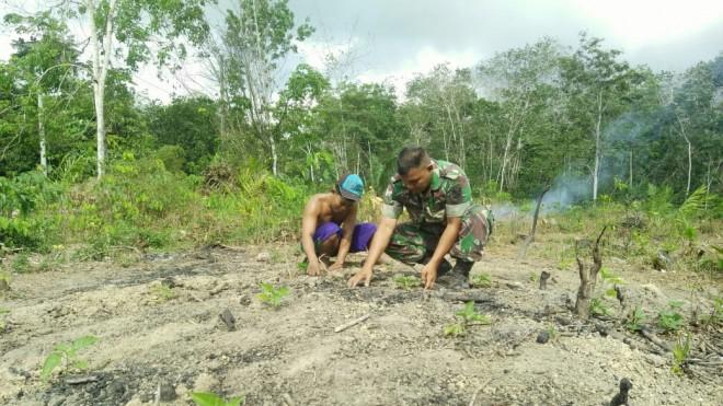 Program Tentara Manunggal Membangun Desa (TMMD) ke-105 Kodim 0415/Batanghari.