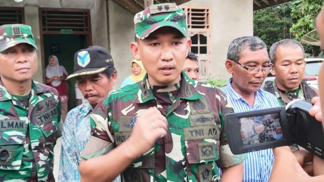 Pembukaan TNI Manunggal Membangun Desa (TMMD) ke 105 Kodim 0415/Batanghari di Desa Ladang Peris.