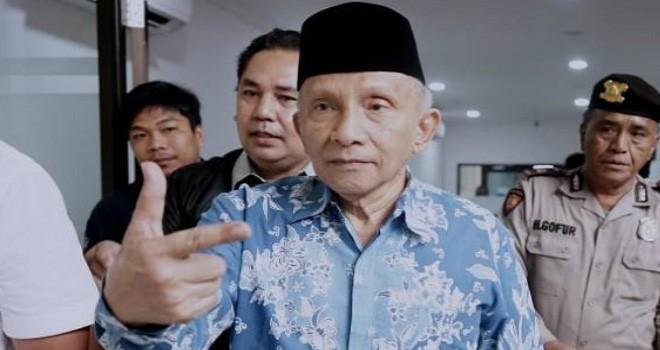 Anggota Dewan Pembina Badan Pemenangan Nasional (BPN) Prabowo Subianto-Sandiaga Uno, Amien Rais. Foto : jawapos