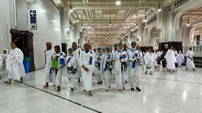 Hari ke-12 operasional haji 2019, Makkah. (Foto: Hilmi Setiawan/Jawa Pos).