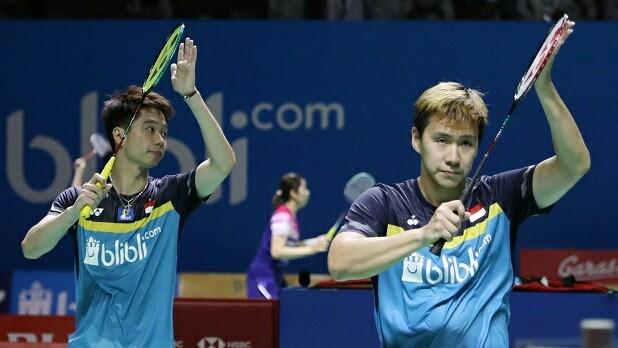 Kevin Sanjaya Sukomuljo/Marcus Fernaldi Gideon / Badminton Indonesia