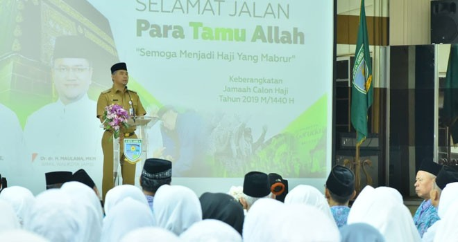 Walikota Jambi Sy Fasha Lepas 633 JCH Kota Jambi.