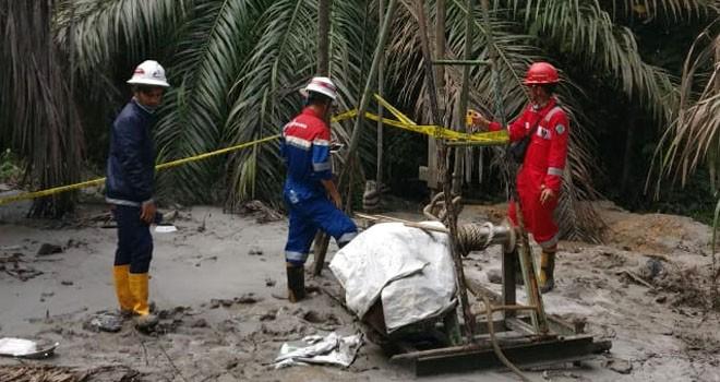 Lokasi Sumur Illegal Drilling di Bayung Lencir yang Semburkan Lumpur 30 Meter. Foto : Ist