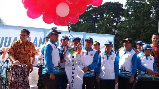 Kejurnas dayung di Danau Siping, Kota Jambi resmbi dibuka siang ini (24/7).