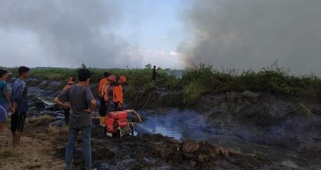Kebakaran Hutan dan Lahan (Karhutla) di Provinsi Jambi terus meluas.