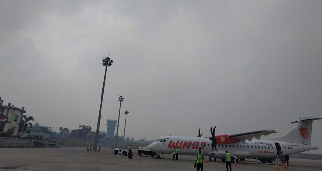 Wings Air saat berada di bandara STS Jambi Minggu (18/8).