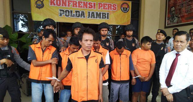Press Release di Mapolda Jambi.