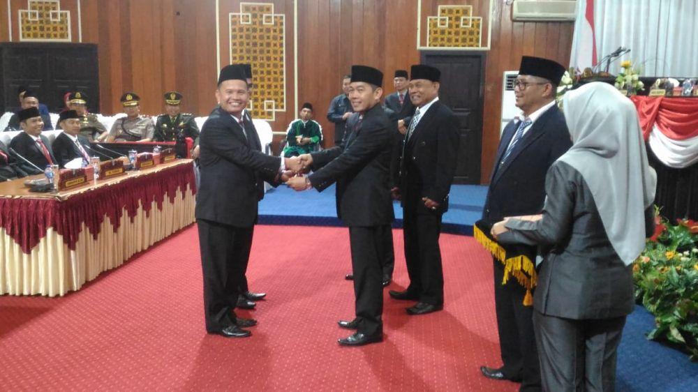 Prosesi pelantikan anggota dewan terpilih Kabupaten Kerinci periode 2019-2024, hasil pemilihan umum 2019 siap dilaksanakan siang ini (28/8).