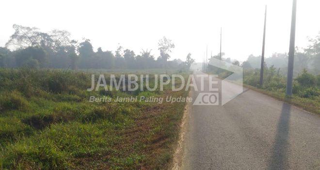 Kabut asap di Tanjabtim sampai pukul 11.55 WIB, Selasa (3/9) kemari terus memburuk.