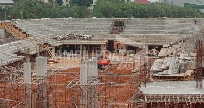 Lokasi pembangunan gedung auditorium Univesitas Islam Negeri Sultan Thaha Saipuddin (UIN STS) Jambi.