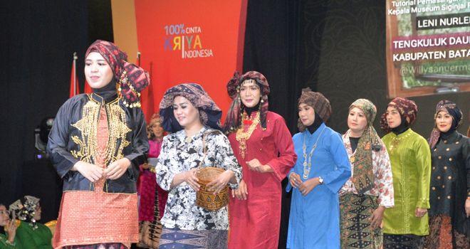 Tekuluk Jambi Ditampilkan Dalam Pameran Kerajinan Nusantara.