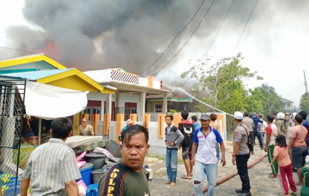 Kebakaran Rumah di Jalan Kelapa Gading Kualatungkal.