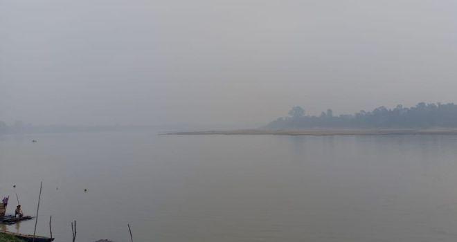 Kabut asap di Kabupaten Batanghari beberapa waktu lalu.