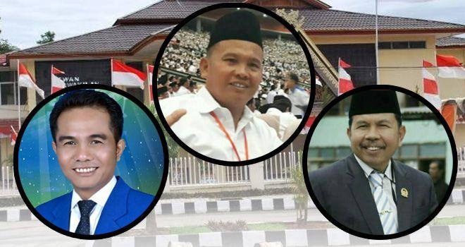 Ketua DPRD Kerinci Edminuddin (tengah), Wakil Ketua 1 Yulid Herman (kiri) dan Wakil Ketua II Boy Edwar (kanan).