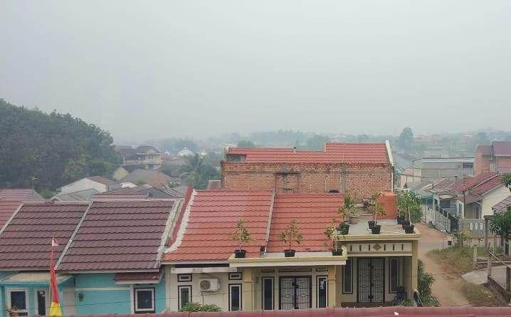 Kondisi kabut asap di Kota Jambi hari ini (23/09).