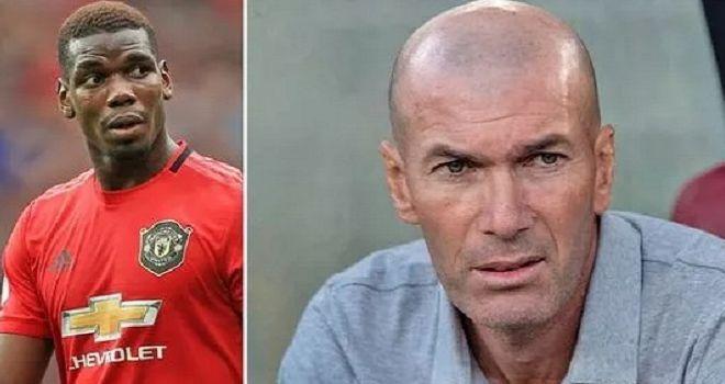 Paul Pogba dan Zinedine Zidane.