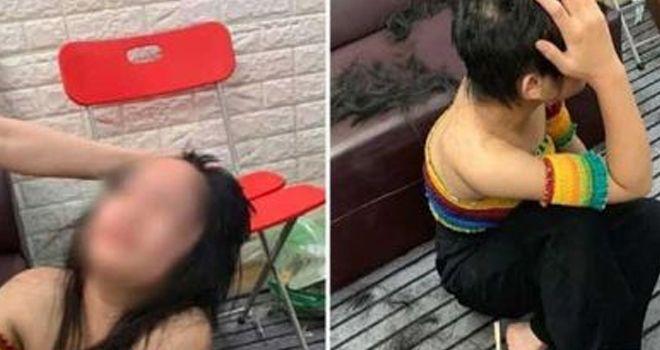 Istri Sah Suami Cukur Gratis Rambut Pelakor.