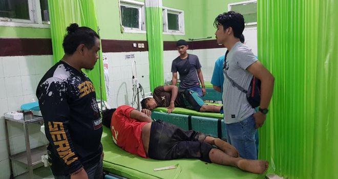 Dua dari tiga pelaku pembunuhan tukang ojek terpaksa dilumpuhkan dengan timah panas karena berusaha melarikan diri saat akan diamankan.