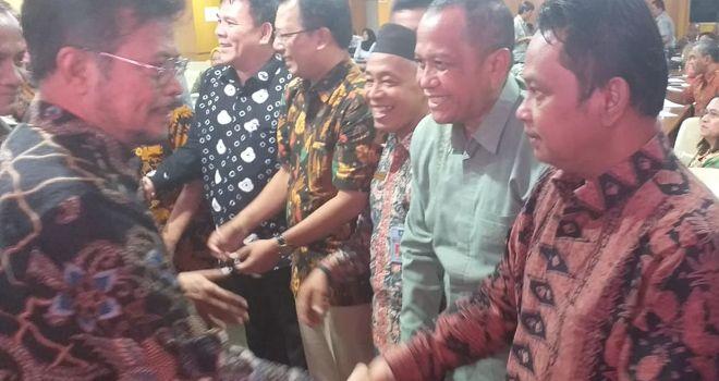 Menteri Pertanian Republik Indonesia (Syahrul Yasin Limpo) pada momentum acara Sosialisasi Kegiatan Pertanian Masuk Sekolah (PMS), yang dilaksanakan Pada Hari Kamis, 14 November 2019 di Gedung E Kementerian Pertanian.