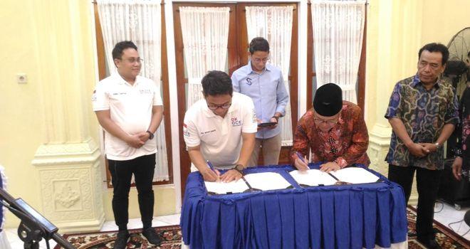 MoU Gerakan Ok Oce dengan Pemerintah Kabupaten Kerinci.