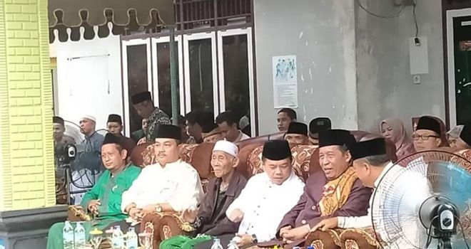 Bupati Merangin Al Haris dan Abdullah Sani tampil bersama pada peringatan Maulid Nabi Muhammad SAW di Kecamatan Rimbo Bujang, Tebo.