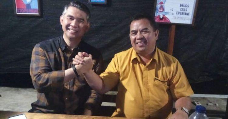 Cagub Jambi Sy Fasha dan Ketua DPD Hanura Provinsi Jambi M Yusuf.