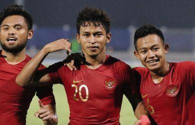 Striker Timnas Indonesia U-23, Osvaldo Haay (tengah).