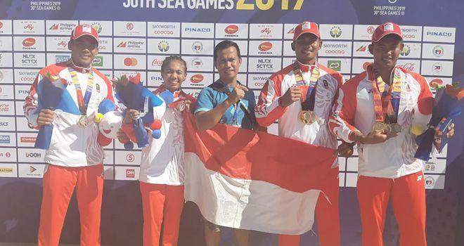 Sebanyak 7 emas 3 perak dan 1 perunggu dipersembahkan pedayung pedayung asal Jambi di SEA Games XXX 2019 Manila.
