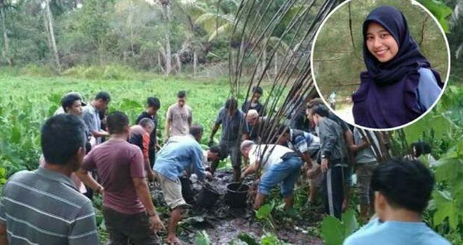 Mahasiswi Bengkulu ditemukan terkubur dengan kaki terikat. Wina Mardiani (inset).