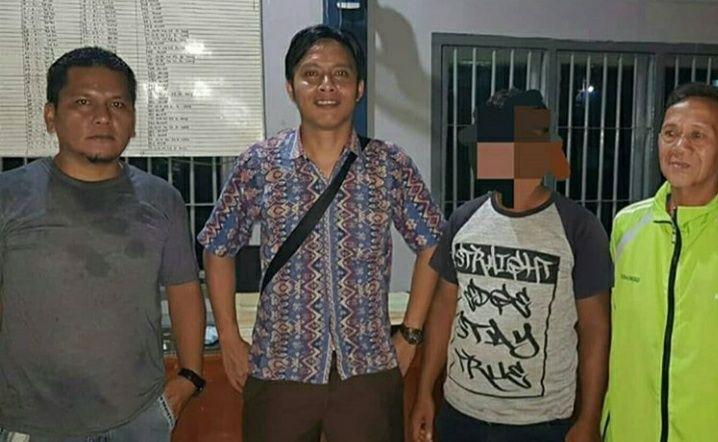 Kades Bukit Talang Mas saat Ditangkap Polisi.