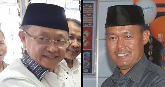 Duet Bupati Sarolangun Cek Endra dan Bupati Tebo Sukandar.