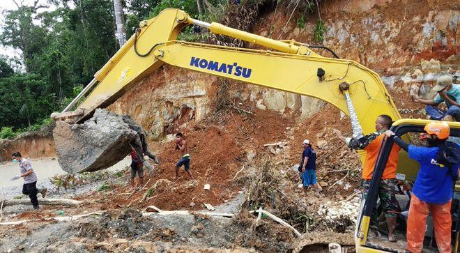 Jenazah terakhir dari korban longsoran PETI di Desa Tambang Baru, Kecamatan Batang Masumai, Merangin ditemukan.