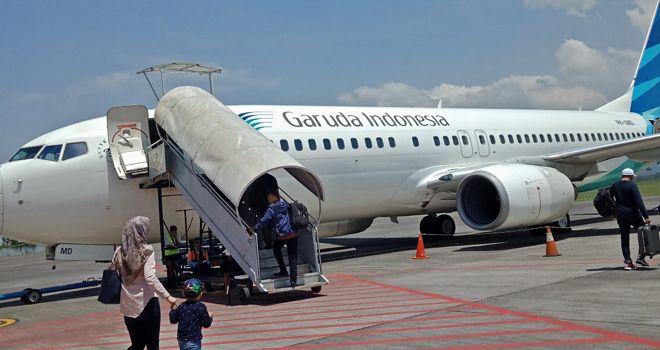 ILUSTRASI. Pesawat Garuda Indonesia.