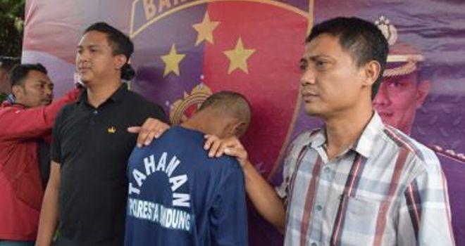 Jajaran atreskrim Polresta Bandung Polda Jabar berhasil menangkap pelaku pencabulan terhadap anak dibawah umur, Kamis (13/02/2020) kemarin.
