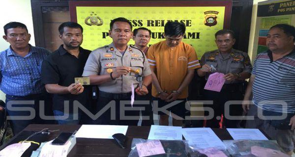 Polsekta Sukarami membekuk seorang pecatan polisi yang memiliki senpi rakitan untuk memeras warga.