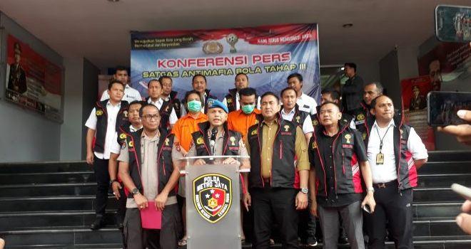Satgas Anti Mafia Bola Jilid 3 kembali menangkap dua tersangka kasus pengaturan skor pada pertandingan Liga 3 antara Persikasi Bekasi menghadapi Perses Sumedang.