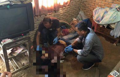 Kondisi korban saat ditemukan polisi.