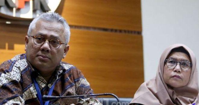 Ketua KPU RI Arief Budiman dan Wakil Ketua KPK, Lili Pintauli Siregar.