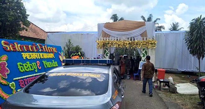 Pesta pernikahan Kabupaten Bungo, dibubarkan oleh aparat, Rabu (1/4).
