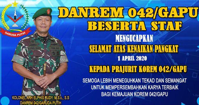 Komandan Korem 042/Gapu Kolonel Arh Elphis Rudy di ruang kerjanya di Makorem Jambi, Kamis (2/4).