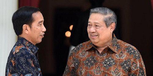 Presiden RI Joko Widodo bersama Susilo Bambang Yudhoyono