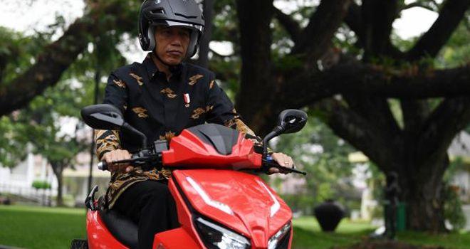 Motor listrik Gesits milik Presiden Joko Widodo.