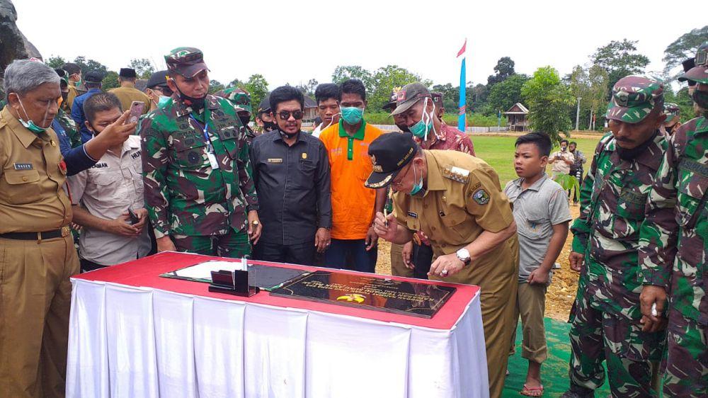 Bupati Sarolangun Sambut Kunjungan kerja Pangdam II/Sriwijaya.