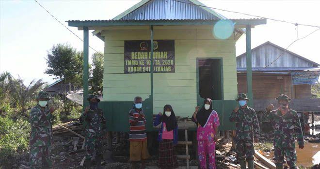 Rumah Warga yang Selesai Dibedah Satgas TMMD Bertambah