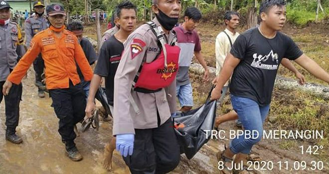 Korban Tenggelam di Air Terjun Segerincing Ditemukan, Langsung Dibawa ke Tebo