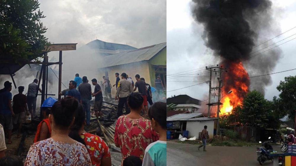 Dua Rumah Warga di Merlung Hangus Terbakar