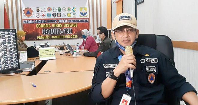 Juru bicara gugus tugas Covid19 Provinsi Jambi Johansyah.